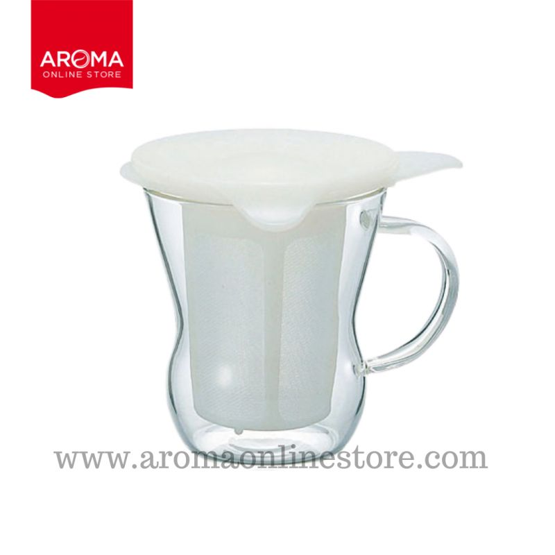 HARIO(128) One Cup Tea Maker / Natural White 200 ml. / OTM-1NW
