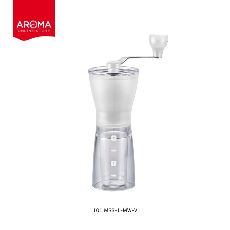HARIO(101) Coffee Mill Ceramia Slim / White / MSS-1-MW-V