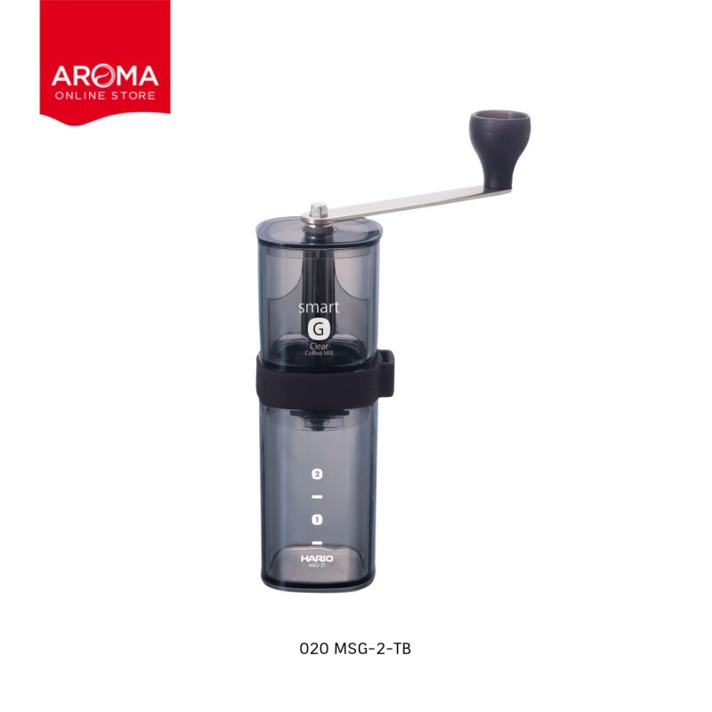 HARIO(020) Coffee Mill Smart G/ Transparent Black / MSG-2-TB