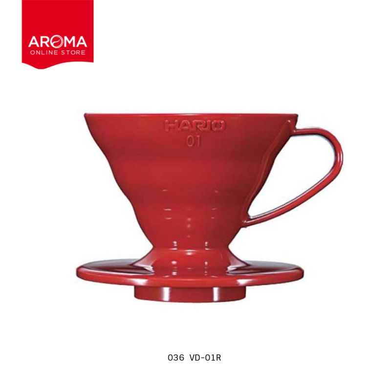 HARIO(036) V60 Coffee Dripper 01/ Red(PP) / VD-01R