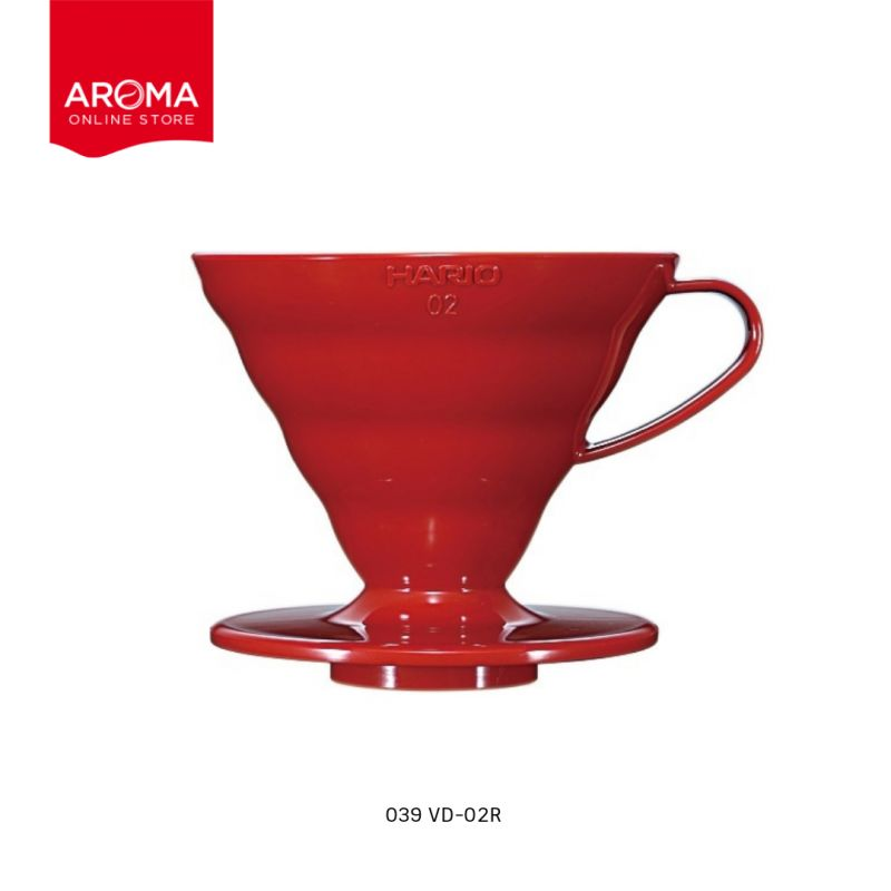 HARIO(039) V60 Coffee Dripper 02 / Red(PP) / VD-02R