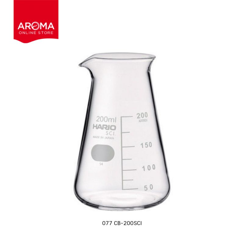 HARIO(077) Conical beaker 200( with Measurements) / CB-200SCI