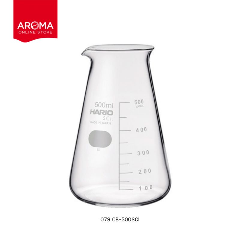 HARIO(079) Conical beaker 500( with Measurements) / CB-500SCI