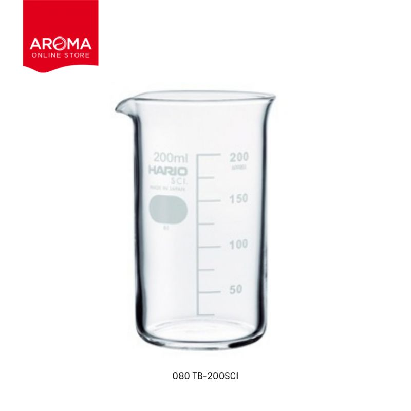 HARIO(080) Tall beaker 200( with Measurements) / TB-200SCI