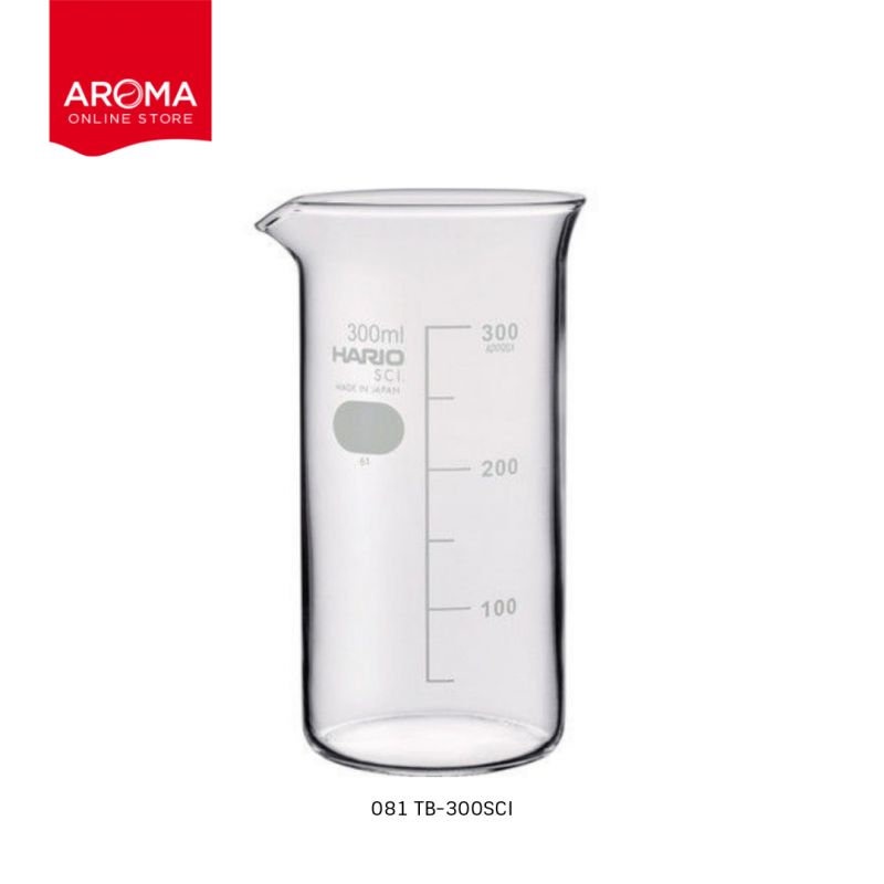 HARIO(081) Tall beaker 300( with Measurements) / TB-300SCI