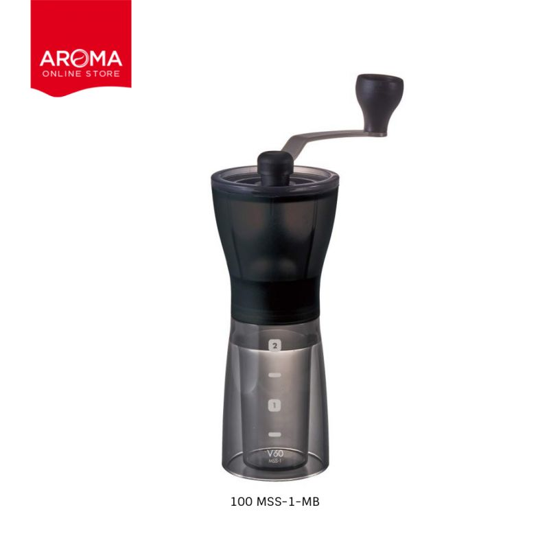 HARIO(100) Coffee Mill Ceramia Slim / Black / MSS-1-MB