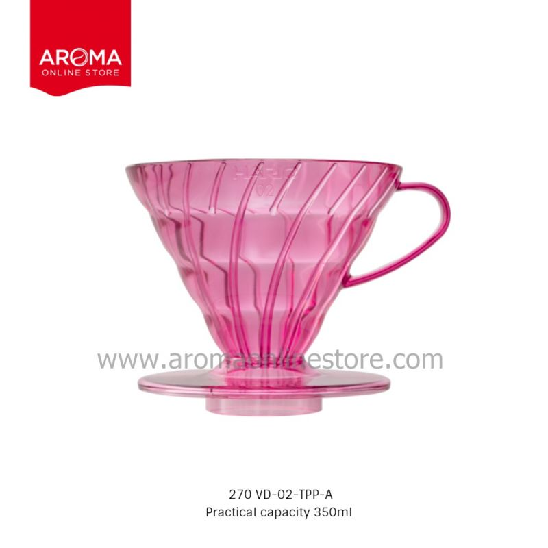 HARIO(270) V60 Dripper Punch Pink (Juicee Collection) / VD-02-TPP-A