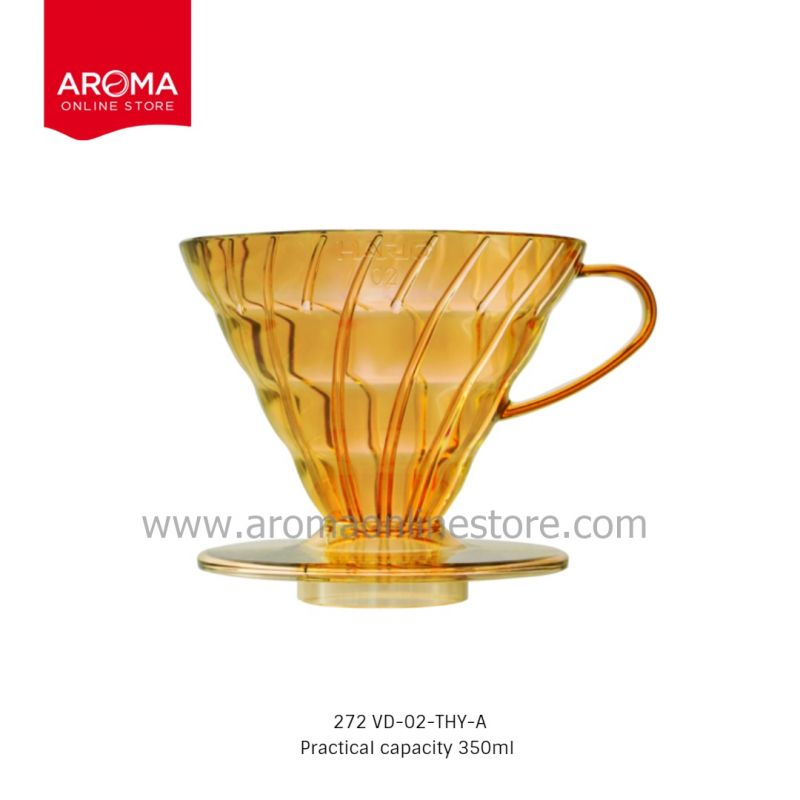 HARIO(272) V60 Dripper Honey Yellow (Juicee Collection) / VD-02-THY-A