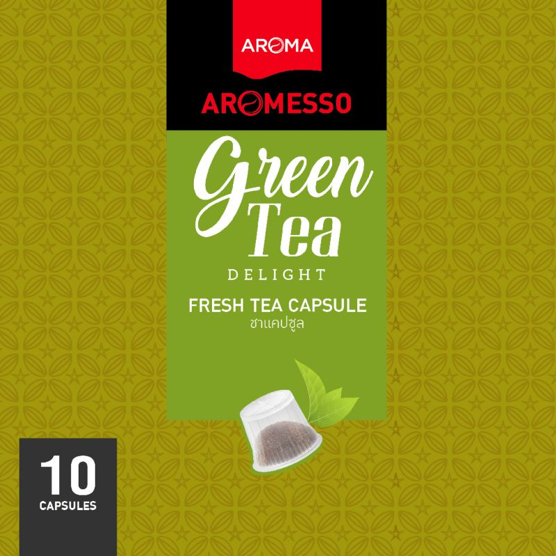 ชาแคปซูล AROMESSO GREEN TEA DELIGHT