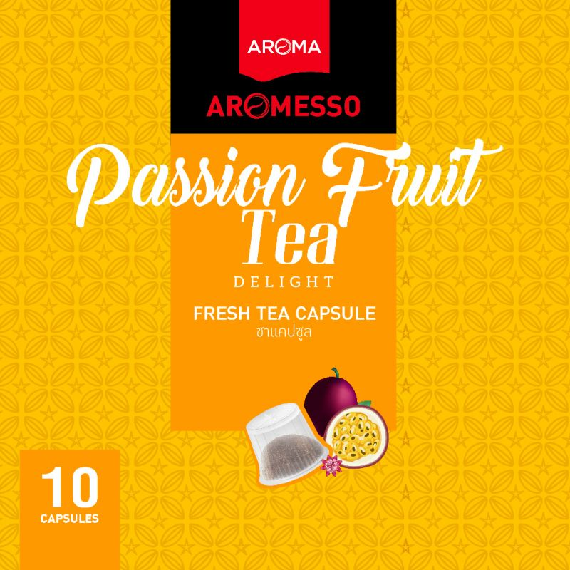 ชาแคปซูล AROMESSO PASSION FRUIT TEA DELIGHT