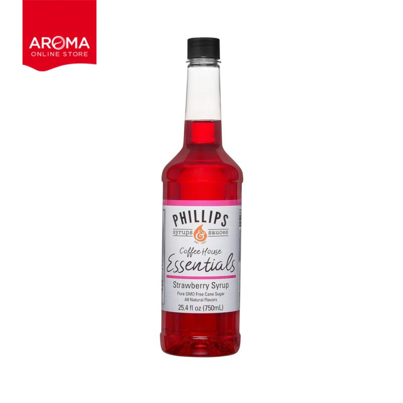 Coffee House Essential Strawberry Syrup (Phillips Brand)
