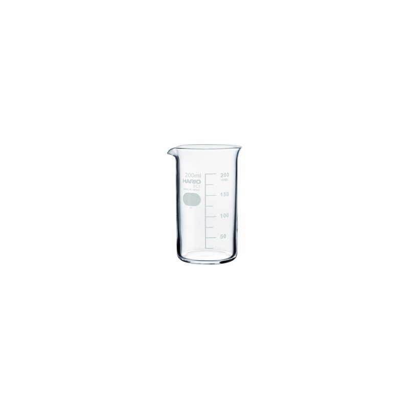 HARIO (080) Tall beaker 200( with Measurements) / TB-200SCI