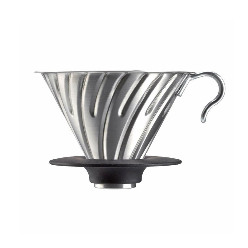 HARIO(052)V60 Metal Dripper  Hairline Silver/VDM-02HSV